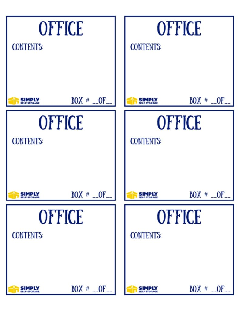 Free Downloadable Packing Labels For Your Move