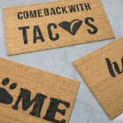 11 DIY Doormats You Can Make Yourself (with Stencils!)